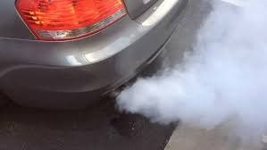 white auto exhaust smoke