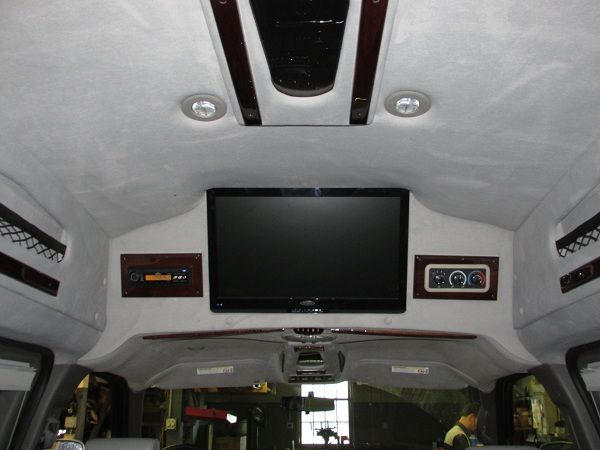 Conversion Van Interior entertainment